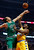 Chicago Bulls center Joakim Noah (13) blocks the shot of Denver Nuggets forward Kenneth Faried during the first half of an NBA basketball game, Monday, March 18, 2013, in Chicago. (AP Photo/Charles Rex Arbogast)