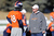Denver Broncos quarterback Peyton Manning (18) talks with quarterbacks coach Adam Gase during practice Wednesday, January 2, 2013 at Dove Valley.  John Leyba, The Denver Post