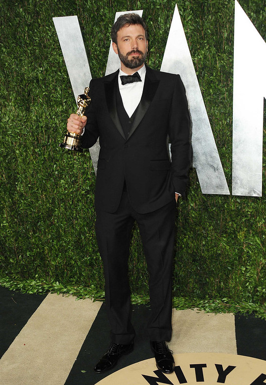 Description of . Director Ben Affleck arrives at the 2013 Vanity Fair Oscar party on Sunday, Feb. 24 2013 at the Sunset Plaza Hotel in West Hollywood, Calif. (Photo by Jordan Strauss/Invision/AP)