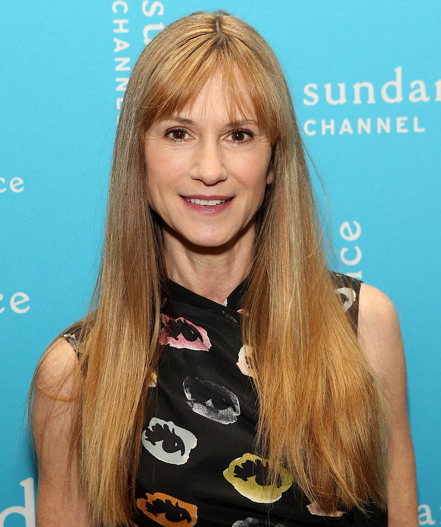 Description of . Actress Holly Hunter attends the Sundance Channel 2013 Winter TCA Panel at The Langham Huntington Hotel and Spa on January 5, 2013 in Pasadena, California.  (Photo by Jesse Grant/Getty Images for Sundance Channel)
