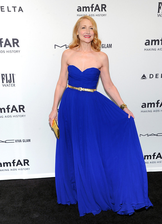 Description of . Actress Patricia Clarkson attends amfAR's New York gala at Cipriani Wall Street on Wednesday, Feb. 6, 2013 in New York. (Photo by Evan Agostini/Invision/AP)