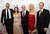 Writers Vince Gilligan, Gennifer Hutchison, Tom Schnauz, Moira Walley-Beckett and George Mastras arrive at the 2013 WGAw Writers Guild Awards at JW Marriott Los Angeles at L.A. LIVE on February 17, 2013 in Los Angeles, California.  (Photo by Jason Kempin/Getty Images for WGAw)