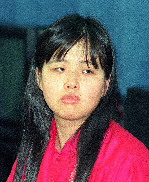 Description of . Tomoko Matsumoto, wife of AUM Supreme Truth sect leader Shoko Asahara on October 25, 1990. Matsumoto was sentenced to seven years' imprisonment on May 14 by the Tokyo District Court for conspiring with her husband and other cult members in the 1994 murder of a dissident member. AFP/Getty Images