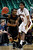 Texas State's Deonte' Jones (23) passes the ball as Denver's Royce O'Neale guards during the second half of a Western Athletic Conference tournament NCAA college basketball game on Thursday, March 14, 2013, in Las Vegas. Texas State won 72-68. (AP Photo/David Becker)