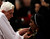 Pope Benedict XVI gives the communion to a nun as he celebrates the Ash Wednesday mass in St. Peter's Basilica at the Vatican, Wednesday, Feb. 13, 2013.  Ash Wednesday marks the beginning of Lent, a solemn period of 40 days of prayer and self-denial leading up to Easter. Pope Benedict XVI told thousands of faithful Wednesday that he was resigning for