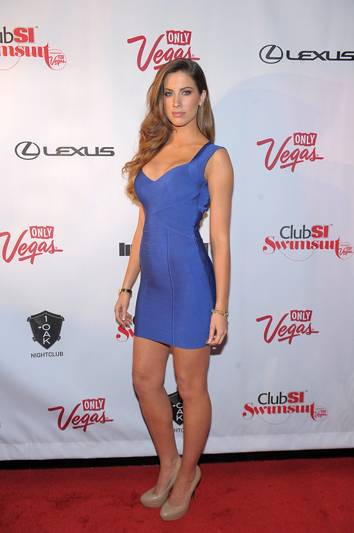 Description of . Sports Illustrated swimsuit model Katherine Webb attends Club SI Swimsuit at 1 OAK Nightclub at The Mirage Hotel & Casino on February 14, 2013 in Las Vegas, Nevada.  (Photo by Michael Loccisano/Getty Images for Sports Illustrated)