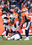 Denver Broncos cornerback Omar Bolden (31) lays on the turf after getting injured. The Denver Broncos vs Baltimore Ravens AFC Divisional playoff game at Sports Authority Field Saturday January 12, 2013. (Photo by Joe Amon,/The Denver Post)