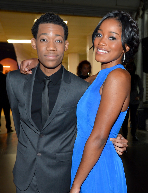 Description of . LOS ANGELES, CA - FEBRUARY 01:  Actor Tyler James Williams (L) and actress Keke Palmer attend the 44th NAACP Image Awards at The Shrine Auditorium on February 1, 2013 in Los Angeles, California.  (Photo by Alberto E. Rodriguez/Getty Images for NAACP Image Awards)