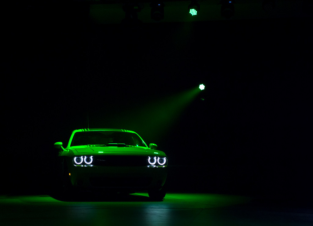 Description of . The 2015 Dodge Challenger is unveiled during a media preview of the 2014 New York International Auto Show in New York. The show opens with a sneak preview to the public April 18th and runs through April 27th. (Photo by Eric Thayer/Getty Images)