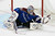 Goalie Semyon Varlamov #1 of the Colorado Avalanche gloves the puck against the St. Louis Blues at the Pepsi Center on February 20, 2013 in Denver, Colorado. The Avalanche defeated the Blues 1-0 in overtime.  (Photo by Doug Pensinger/Getty Images)