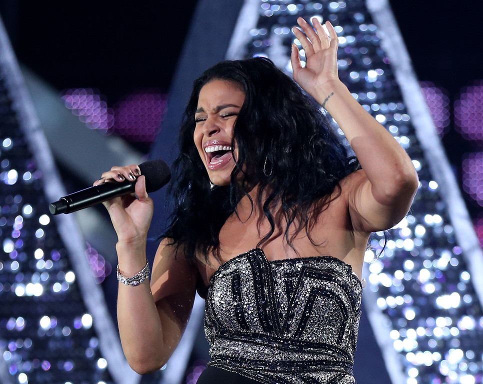 Description of . LOS ANGELES, CA - DECEMBER 16:  Singer Jordin Sparks performs onstage during