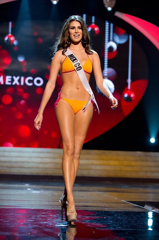 Description of . Miss Mexico 2012, Karina Gonzalez, competes in her Kooey Australia swimwear and Chinese Laundry shoes during the Swimsuit Competition of the 2012 Miss Universe Presentation Show on Thursday, December 13th at PH Live in Las Vegas, Nevada. The 89 Miss Universe Contestants will compete for the Diamond Nexus Crown on the LIVE NBC Telecast of the 2012 Miss Universe Pageant set for 8:00 PM ET on December 19, 2012.HO/Miss Universe Organization L.P., LLLP