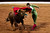 In this March 4, 2012 photo, Spanish bullfighter Juan Jose Padilla performs during a bullfight in the southwestern Spanish town of Olivenza. This photo is one in a series of images by Associated Press photographer Daniel Ochoa de Olza that won the second place prize for the Observed Portrait series category in the World Press Photo 2013 photo contest.  (AP Photo/Daniel Ochoa de Olza, File)