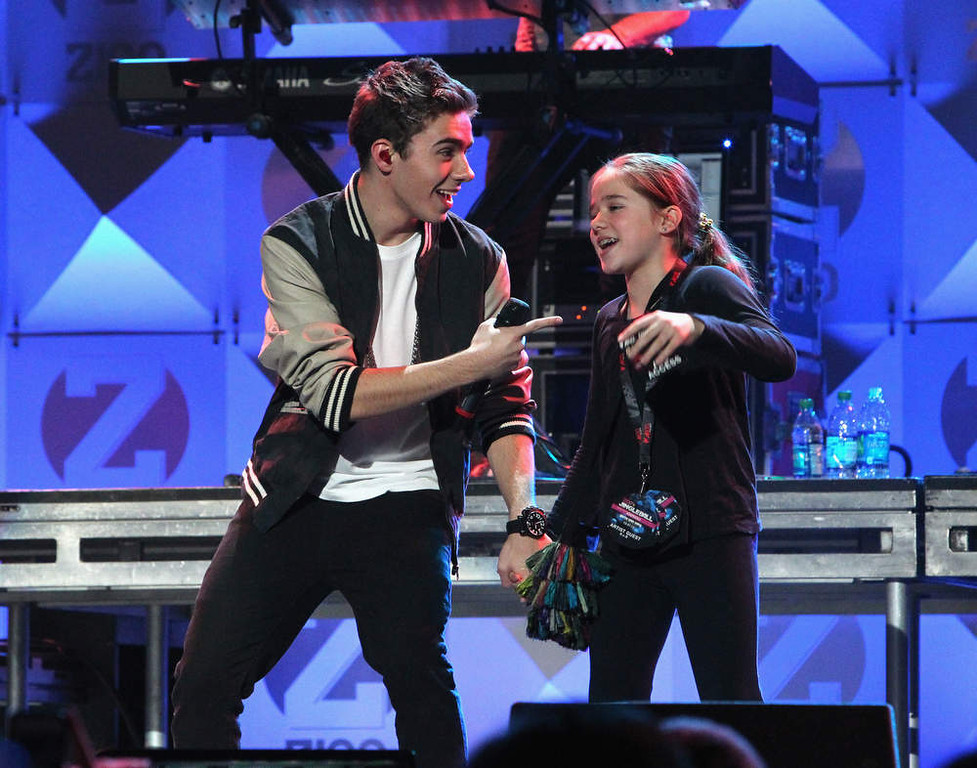 Description of . Nathan Sykes of The Wanted performs onstage during Z100's Jingle Ball 2012, presented by Aeropostale, at Madison Square Garden on December 7, 2012 in New York City.  (Photo by Kevin Kane/Getty Images for Jingle Ball 2012)