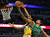 Denver Nuggets' Wilson Chandler (L) goes to the basket against Chicago Bulls' Joakim Noah during the first half of their NBA basketball game in Chicago, Illinois March 18, 2013. REUTERS/Jim Young