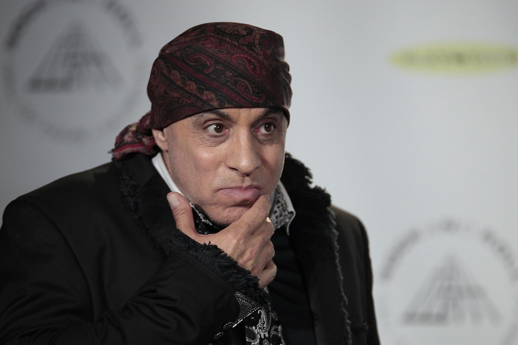 Description of . Hall of Fame inductee Steven Van Zandt appears in the press room at the 2014 Rock and Roll Hall of Fame Induction Ceremony on Thursday, April, 10, 2014 in New York. (Photo by Andy Kropa/Invision/AP)