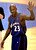 Washington Wizards Michael Jordan waves as he walk off the court at the end of the game against the Philadelphia 76ers Wednesday, April 16, 2003 in Philadelphia. It was Jordan's last NBA game.(AP Photo/Miles Kennedy)