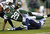Running back Bilal Powell #29 of the New York Jets is tackled by Donald Butler #56 and Marcus Gilchrist #38 of the San Diego Chargers during the second half at MetLife Stadium on December 23, 2012 in East Rutherford, New Jersey. The Chargers defeated the Jets 27-17. (Photo by Rich Schultz /Getty Images)