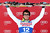 Matteo Marsaglia #12 of Italy celebrates on the winner's podium during the men's Super G on the Birds of Prey at the Audi FIS World Cup on December 1, 2012 in Beaver Creek, Colorado.  (Photo by Matthew Stockman/Getty Images)