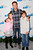 TV personality Chris Harrison and his kids attend KIIS FM's 2012 Jingle Ball at Nokia Theatre L.A. Live on December 3, 2012 in Los Angeles, California.  (Photo by Imeh Akpanudosen/Getty Images)
