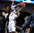 Denver's Jalen Love (3) shoots against Texas State's Reid Koenen (3) during the second half of a Western Athletic Conference tournament NCAA college basketball game on Thursday, March 14, 2013 in Las Vegas. Texas State won 72-68. (AP Photo/David Becker)