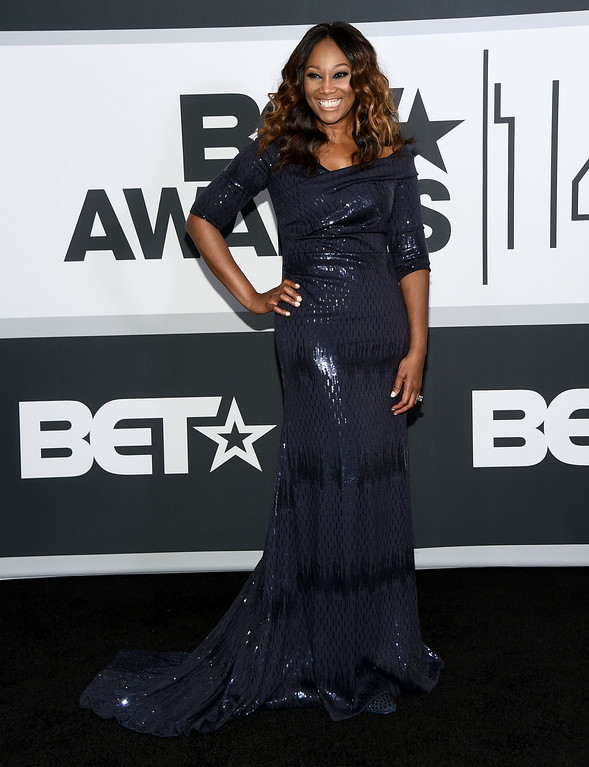Description of . Singer Yolanda Adams poses in the press room during the BET AWARDS '14 at Nokia Theatre L.A. LIVE on June 29, 2014 in Los Angeles, California.  (Photo by Michael Buckner/Getty Images for BET)
