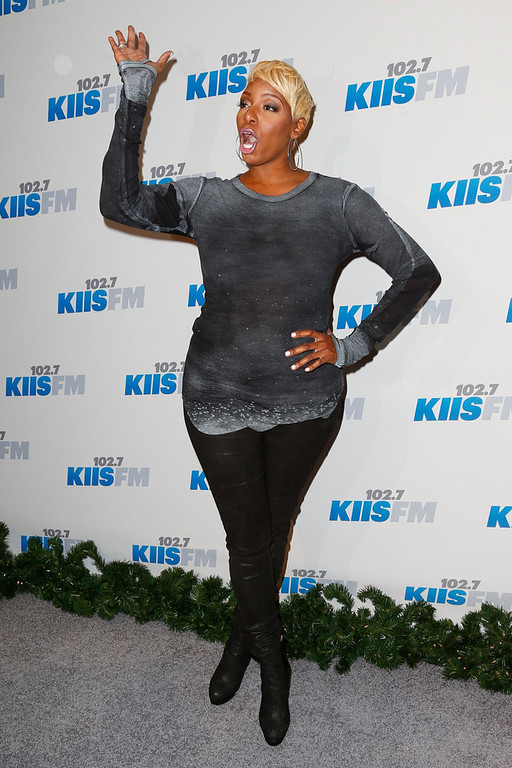 Description of . TV personality/actress NeNe Leakes attends KIIS FM\'s 2012 Jingle Ball at Nokia Theatre L.A. Live on December 3, 2012 in Los Angeles, California.  (Photo by Imeh Akpanudosen/Getty Images)