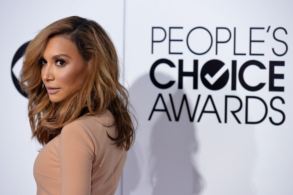 Description of . Naya Rivera arrives at the 40th annual People's Choice Awards at Nokia Theatre L.A. Live on Wednesday, Jan. 8, 2014, in Los Angeles. (Photo by John Shearer/Invision/AP)