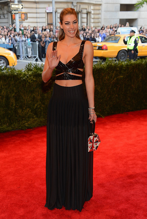 Description of . Model Jessica Hart attends the Costume Institute Gala for the