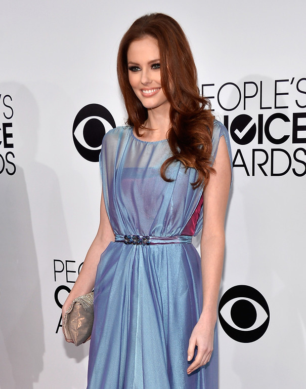 Description of . LOS ANGELES, CA - JANUARY 08:  Miss USA 2011 Alyssa Campanella attends The 40th Annual People's Choice Awards at Nokia Theatre L.A. Live on January 8, 2014 in Los Angeles, California.  (Photo by Frazer Harrison/Getty Images for The People's Choice Awards)