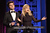 Actors Adam Scott and Amy Poehler speak onstage at the 2013 WGAw Writers Guild Awards at JW Marriott Los Angeles at L.A. LIVE on February 17, 2013 in Los Angeles, California.  (Photo by Maury Phillips/Getty Images for WGAw)
