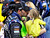Jimmie Johnson kisses his daughter Genevieve Marie in Victory Lane after winning the Daytona 500 NASCAR Sprint Cup Series auto race, Sunday, Feb. 24, 2013, at Daytona International Speedway in Daytona Beach, Fla. (AP Photo/Terry Renna)