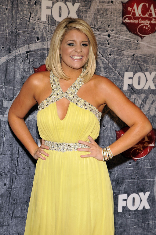 Description of . Singer Lauren Alaina arrives at the American Country Awards on Monday, Dec. 10, 2012, in Las Vegas. (Photo by Jeff Bottari/Invision/AP)