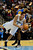 Denver Nuggets small forward Danilo Gallinari (8) drives past Golden State Warriors center Festus Ezeli (31) during the first half at the Pepsi Center on Sunday, January 13, 2013. AAron Ontiveroz, The Denver Post