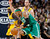 Boston Celtics forward Paul Pierce, front, runs into Denver Nuggets center Kosta Koufos during the third quarter of the Nuggets' 97-90 victory in an NBA basketball game in Denver on Tuesday, Feb. 19, 2013. (AP Photo/David Zalubowski)