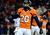 Denver Broncos strong safety Mike Adams (20) gets amped up during the fourth quarter.  The Denver Broncos vs Baltimore Ravens AFC Divisional playoff game at Sports Authority Field Saturday January 12, 2013. (Photo by Tim Rasmussen,/The Denver Post)