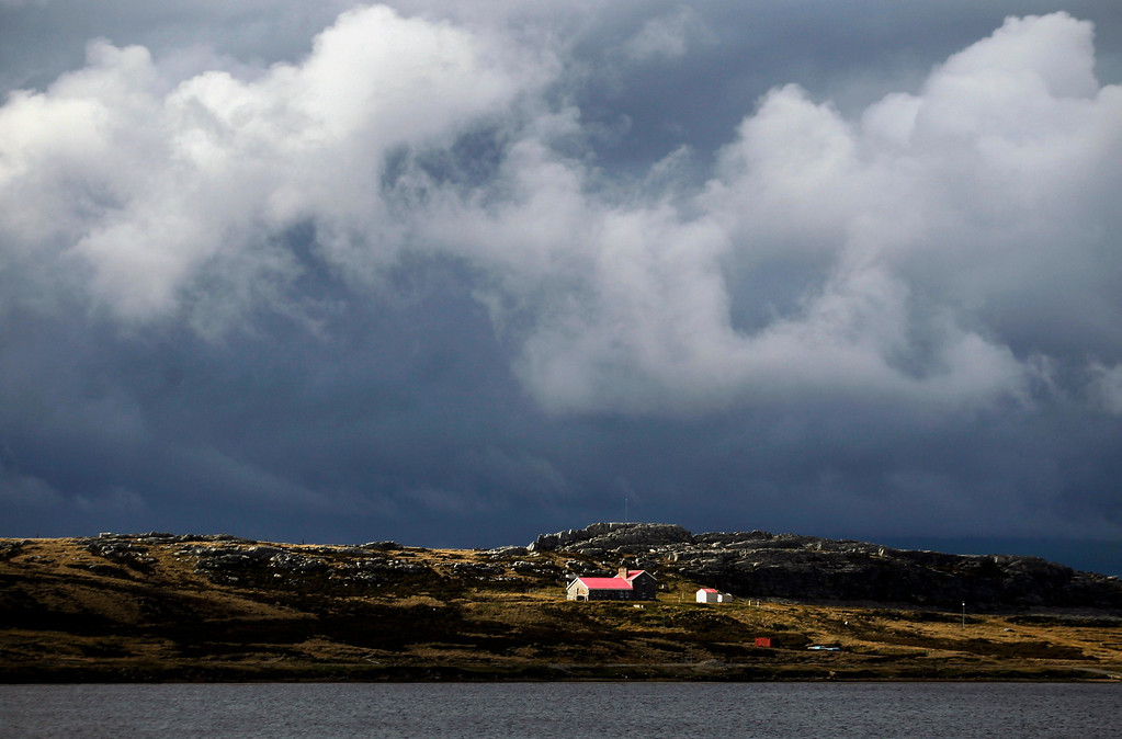 Description of . A house is seen in Camber, in front of Stanley, March 11, 2013. Residents of the Falkland Islands started voting on Sunday and continue today in a sovereignty referendum that seeks to counter Argentina's increasingly assertive claim over the British-ruled territory.  REUTERS/Marcos Brindicci
