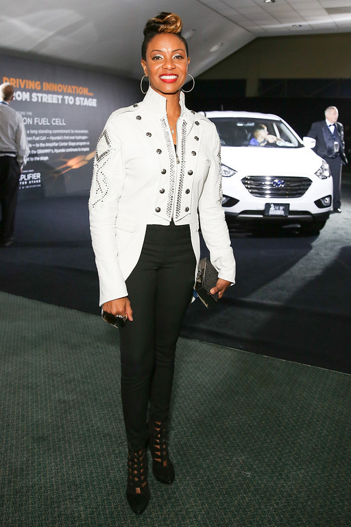 Description of . Singer Kelis attends the 2014 HYUNDAI / GRAMMY's celebration activation at Los Angeles Convention Center on January 26, 2014 in Los Angeles, California.  (Photo by Chelsea Lauren/Getty Images for Hyundai)