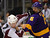 Colorado Avalanche right wing Chuck Kobasew, left, fights Los Angeles Kings defenseman Keaton Ellerby during the third period of their NHL hockey game, Saturday, Feb. 23, 2013, in Los Angeles. The Kings won 4-1.  (AP Photo/Mark J. Terrill)