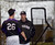 SCOTTSDALE, AZ. - FEBRUARY 20: Bo McLaughlin, assistant pitching coach talks with Jeff Francis in the batting cages where the  Colorado Rockies had to workout in due to rain during Spring Training  February 20, 2013 in Scottsdale. (Photo By John Leyba/The Denver Post)