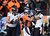 Denver Broncos wide receiver Matt Willis (12) and Baltimore Ravens wide receiver Tandon Doss (17) tussle in the first quarter. The Denver Broncos vs Baltimore Ravens AFC Divisional playoff game at Sports Authority Field Saturday January 12, 2013. (Photo by Joe Amon,/The Denver Post)