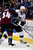 DENVER, CO. - JANUARY 22: Colorado Avalanche right wing David Jones (54) gets physical with Los Angeles Kings defenseman Rob Scuderi (7) during the first period. The Colorado Avalanche hosted the Los Angeles Kings at the Pepsi Center on January, 22, 2013.   (Photo By John Leyba / The Denver Post)