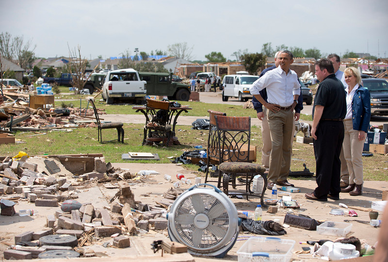 Oklahoma City ravaged by mile-wide tornado