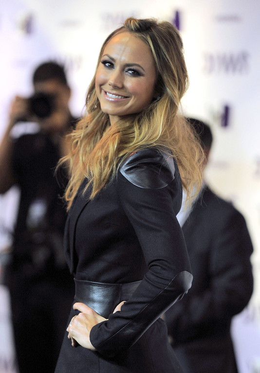 Description of . Stacy Keibler arrives at VH1 Divas on Sunday, Dec. 16, 2012, at the Shrine Auditorium in Los Angeles. (Photo by Jordan Strauss/Invision/AP)