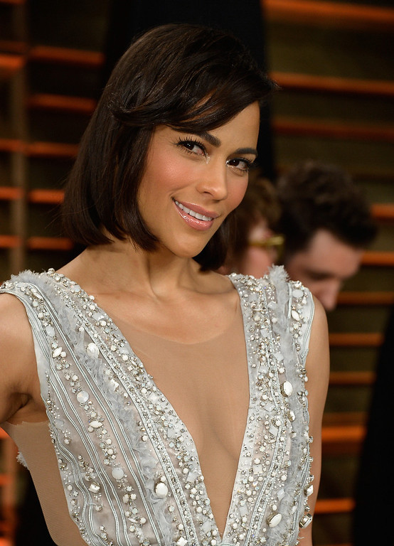 Description of . Paula Patton attends the 2014 Vanity Fair Oscar Party hosted by Graydon Carter on March 2, 2014 in West Hollywood, California.  (Photo by Pascal Le Segretain/Getty Images)