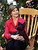 First lady Laura Bush, holds her pet dog Barney during a visit to the Children's National Medical Center, Wednesday, Dec. 15, 2004, in Washington. The visit has been a holiday tradition for the U.S. first ladies each year starting with Mrs. Jacqueline Kennedy. (AP Photo/Manuel Balce Ceneta)