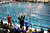 Fans cheered on the racers competing in the 50-Yard Freestyle sprint Saturday. The Colorado Coaches Invitational Swimming and Diving Meet wrapped up Saturday night, December 15, 2012.  Karl Gehring/The Denver Post