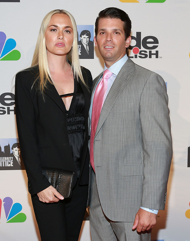 "Description of . Vanessa Trump (L) and Donald Trump Jr. attend ""All Star Celebrity Apprentice\"" Finale at Cipriani 42nd Street on May 19, 2013 in New York City.  (Photo by Robin Marchant/Getty Images)"