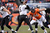 Denver Broncos defensive tackle Mitch Unrein (96) moves in on Baltimore Ravens quarterback Joe Flacco (5) in the second quarter. The Denver Broncos vs Baltimore Ravens AFC Divisional playoff game at Sports Authority Field Saturday January 12, 2013. (Photo by Joe Amon,/The Denver Post)