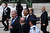 U.S. President Barack Obama (C) is greeted by Israeli Prime Minister Benjamin Netanyahu (L) during an official welcoming ceremony on his arrival at Ben Gurion International Airport on March, 20, 2013 near Tel Aviv, Israel.  (Photo by Marc Israel Sellem-Pool/Getty Images)